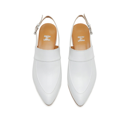 Pointed toe sling back (white)