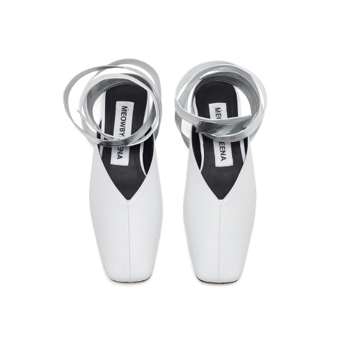 20%할인 Square toe lace up (white)