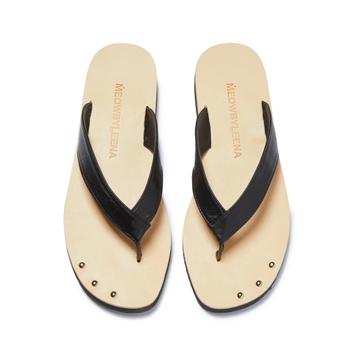 MW Thong Sandal with anklet (BLK)