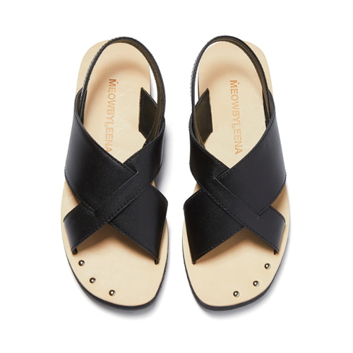 MW Cross Sandal (BLACK)