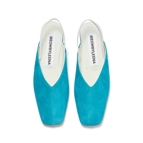 Square toe sling back (BLUE)