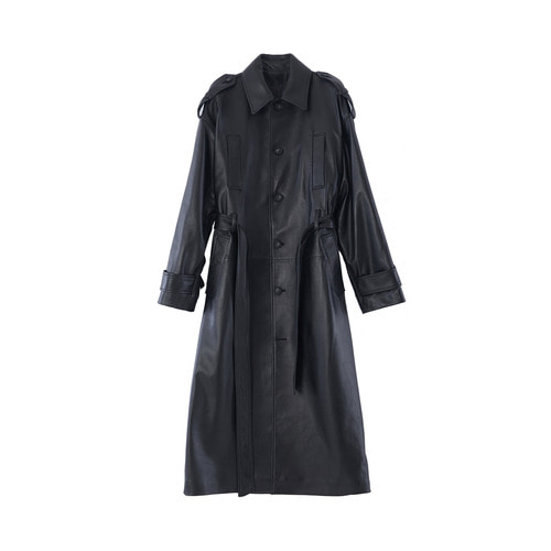 Belted Trench coat_ BLK